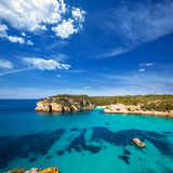 Cala Macarella Macarelleta Cituradella in Menorca Balearic Stock Images