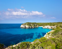 Cala Macarella Macarelleta Cituradella in Menorca Balearic Royalty Free Stock Photo