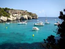 Cala Macarella Menorca stock photography