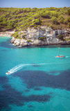 Cala Macarella on Menorca, Balearic Islands, Spain Stock Images