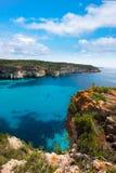 Cala Macarella Menorca turquoise Balearic Mediterranean Stock Photos
