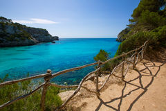 Cala Macarella Menorca turquoise Balearic Mediterranean Royalty Free Stock Image