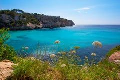 Cala Macarella Menorca turquoise Balearic Mediterranean Royalty Free Stock Photos