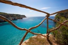 Cala Macarella Menorca turquoise Balearic Mediterranean Stock Photo