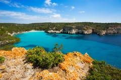 Cala Macarella Menorca turquoise Balearic Mediterranean Stock Image