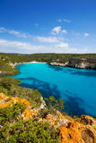 Cala Macarella Menorca turquoise Balearic Mediterranean Royalty Free Stock Photography