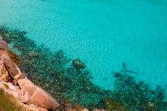 Cala Macarella Menorca turquoise Balearic Mediterranean Royalty Free Stock Photo