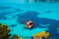 Cala Macarella Menorca turquoise Balearic Mediterranean Stock Photography