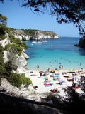 Cala Macarelleta Menorca Photos libres de droits