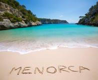 Cala Macarelleta in Menorca at Balearic Islands Royalty Free Stock Image