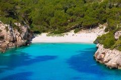 Cala Macarelleta in Menorca at Balearic Islands Royalty Free Stock Images