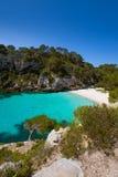Cala Macarelleta in Menorca at Balearic Islands Stock Photography
