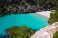 Cala Macarelleta in Menorca at Balearic Islands Stock Image