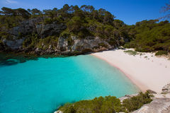 Cala Macarelleta in Menorca at Balearic Islands Royalty Free Stock Image