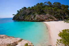 Cala Macarelleta in Menorca at Balearic Islands Royalty Free Stock Photography