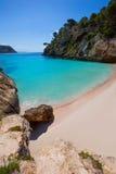 Cala Macarelleta in Menorca at Balearic Islands Royalty Free Stock Photography