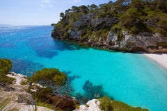 Cala Macarelleta in Menorca at Balearic Islands Stock Photography