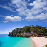 Cala Macarelleta in Menorca at Balearic Islands Royalty Free Stock Photos