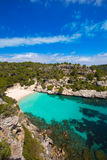 Cala Macarelleta in Menorca at Balearic Islands Stock Photos