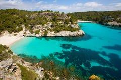 Cala Macarelleta in Menorca at Balearic Islands Royalty Free Stock Photos