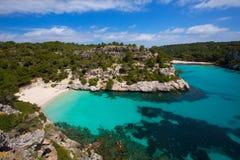 Cala Macarelleta in Menorca at Balearic Islands Royalty Free Stock Photo