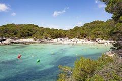 Cala Macarelleta in Menorca island, mediterranean sea, Spain royalty free stock photos