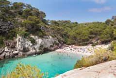 Cala Macarelleta seen from above royalty free stock photo