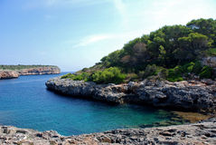 cala Mallorca nau sumy Obrazy Stock