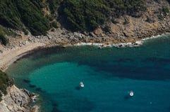 Cala Mandriola - het eiland van Elba Stock Foto