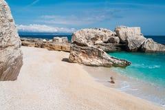 Cala Mariolu beach Stock Photos