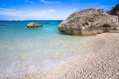 Cala Mariolu beach on the Sardinia island, Italy Stock Photography