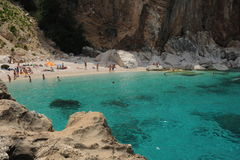 Cala Mariolu beach on the island of Sardinia Royalty Free Stock Images