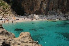 Cala Mariolu beach on the island of Sardinia. Italy Royalty Free Stock Images