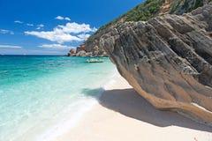 Cala Mariolu Beach, Sardinia. Beautiful Sadinian beach `Cala Mariolu` on Golfo di Orosei, Italy royalty free stock photography