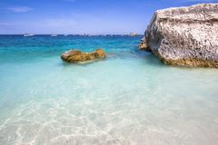Cala Mariolu beach on the Sardinia island, Italy Royalty Free Stock Photography