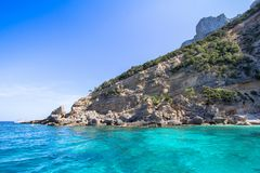 Cala Mariolu beach on the Sardinia island, Italy Stock Photos