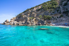 Cala Mariolu beach on the Sardinia island, Italy Royalty Free Stock Photo