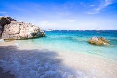 Cala Mariolu på den Sardinia ön, Italien Fotografering för Bildbyråer