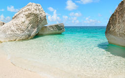 Cala Mariolu rocks under a clear sky. In the summer Royalty Free Stock Photography