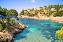 Cala Marmassen, Andraitx Mallorca España foto de archivo