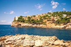 Cala Marmassen, Andratx Mallorca Spagna immagine stock