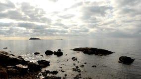 Cala Martina στο νησί Ibiza, Βαλεαρίδες Νήσοι, απόθεμα βίντεο