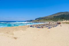 Cala Mesquida - beautiful beach of island Mallorca, Spain Royalty Free Stock Image
