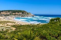Cala Mesquida - schöner Strand von Insel Mallorca, Spanien lizenzfreie stockfotografie