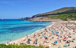 Cala mesquidamening over majorca Baleaars eiland in Spanje royalty-vrije stock foto