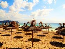 Cala millor海滩 免版税库存照片