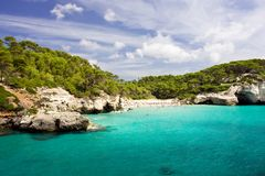 Cala Mitjana Royalty Free Stock Images