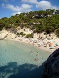 Cala Mitjana Menorca stock images