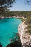Cala Mitjana in Menorca stock images