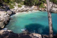 Cala Mitjana, Menorca, Spain royalty free stock image